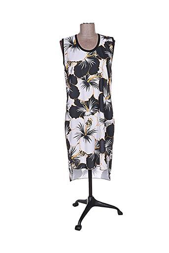 Robe mi-longue noir GHIGO BY EFFE pour femme