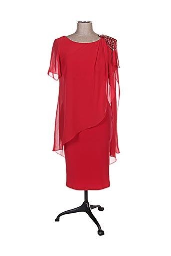 Robe mi-longue rouge FASHION NEW YORK pour femme