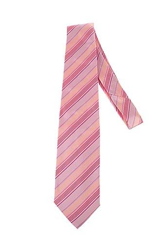Cravate rose DANIEL HECHTER pour homme