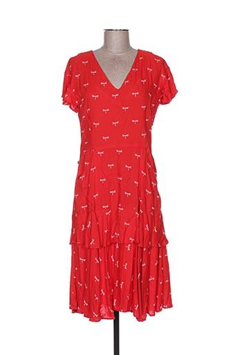Robe mi-longue rouge BLA-BLA pour femme