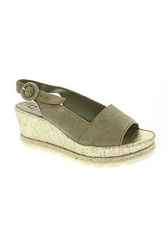 Sandales/Nu pieds vert HOGL pour femme