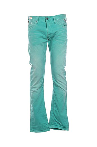 Jeans coupe droite vert REPLAY pour homme