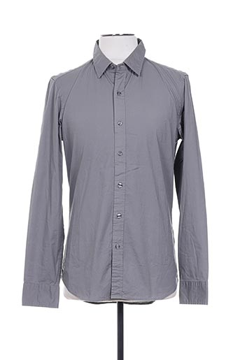 Chemise manches longues gris REPLAY pour homme