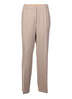 Pantalon chic beige FASHION COLLECTION pour femme
