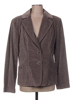 Veste chic / Blazer gris BLEU DE SYM pour femme