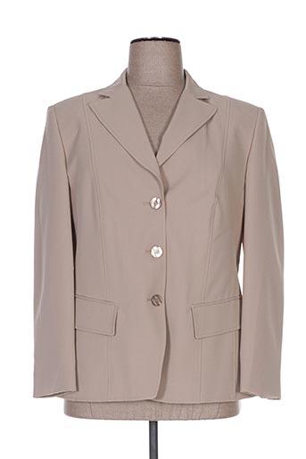Veste chic / Blazer beige FASHION COLLECTION pour femme