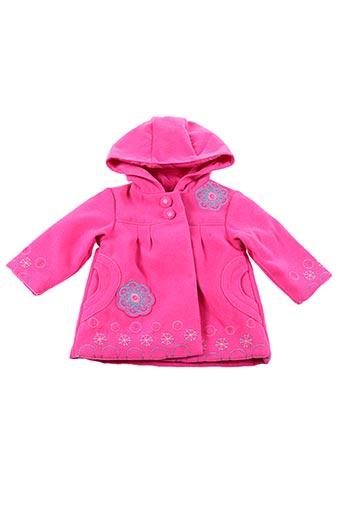 Manteau court rose PIK OUIC pour fille