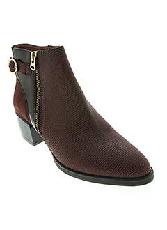 Bottines/Boots rouge HISPANITAS pour femme