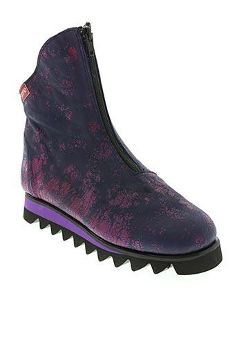 Bottines/Boots violet CLAMP pour femme