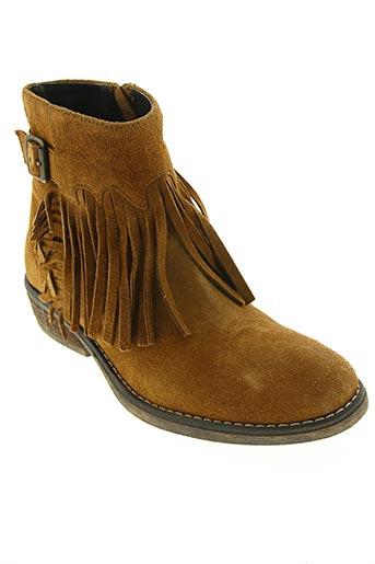 Bottines/Boots marron REQINS pour fille