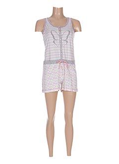Pyjashort rose SENORETTA pour femme