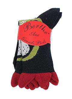 Chaussettes noir BERTHE AUX GRANDS PIEDS pour fille