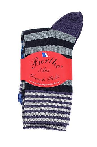Chaussettes bleu BERTHE AUX GRANDS PIEDS pour garçon