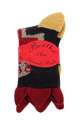 Chaussettes noir BERTHE AUX GRANDS PIEDS pour garçon