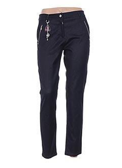 Pantalon casual bleu VOODOO pour femme