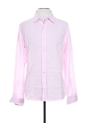 Chemise manches longues rose CROSSBY pour homme