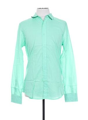 Chemise manches longues vert CROSSBY pour homme