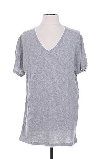 T-shirt manches courtes gris CROSSBY pour homme