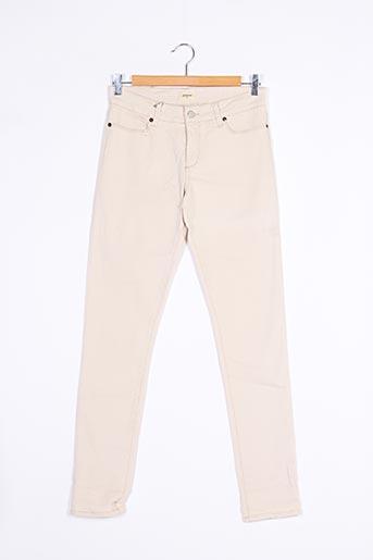 Pantalon casual beige BELLEROSE pour fille