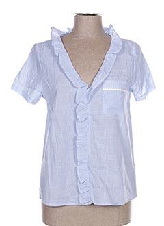 Blouse manches courtes bleu CERISE BLUE pour femme