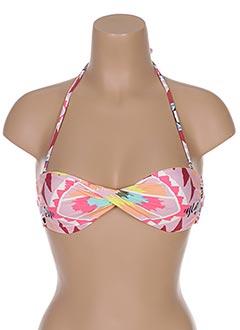 Haut de maillot de bain rose BILLABONG pour femme