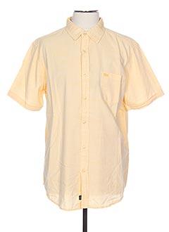 Chemise manches courtes jaune TBS pour homme