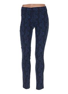 Pantalon casual bleu POUSSIERE D'ETOLE pour femme