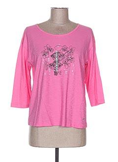 T-shirt manches longues rose THALASSA pour femme