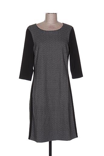 Robe mi-longue noir BIANCA pour femme