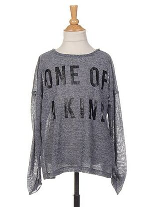 Pull col rond gris NAME IT pour fille
