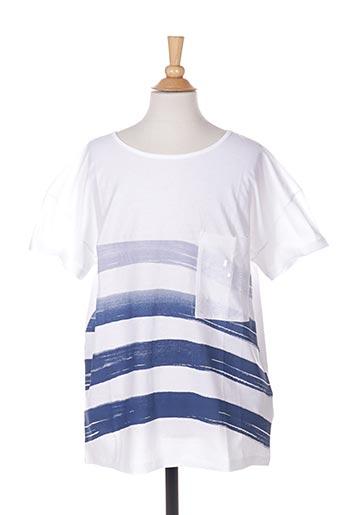 T-shirt manches courtes blanc BENETTON pour fille