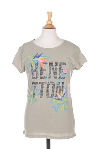 T-shirt manches courtes vert BENETTON pour fille