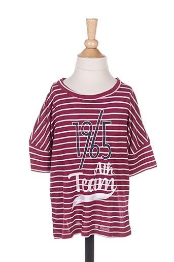 T-shirt manches longues rouge BENETTON pour fille