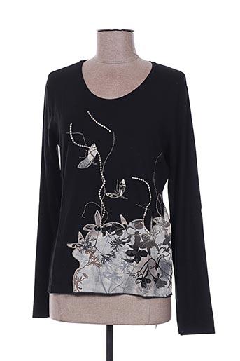 T-shirt manches longues noir FINETTE pour femme