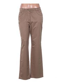 Pantalon casual beige GINA B HEIDEMANN pour femme
