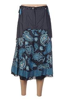 Jupe mi-longue bleu ENJOY pour femme