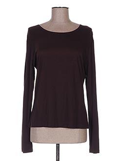 T-shirt manches longues marron ENJOY pour femme