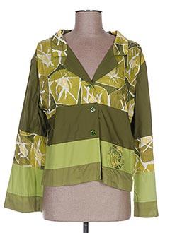 Veste chic / Blazer vert ENJOY pour femme