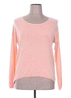 Pull col rond rose HARRIS WILSON pour femme