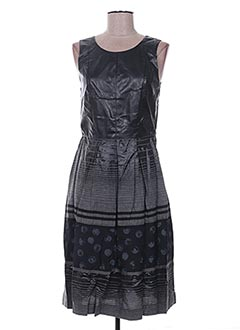 Robe mi-longue noir BLEU BLANC ROUGE pour femme