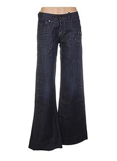 Jeans coupe large bleu SEGURA pour femme