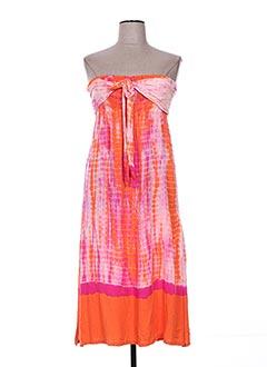 Robe mi-longue orange HAPPY FEW pour femme