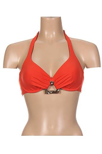 Haut de maillot de bain orange HATEIA pour femme