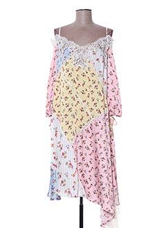 Robe mi-longue rose ERMANNO SCERVINO pour femme