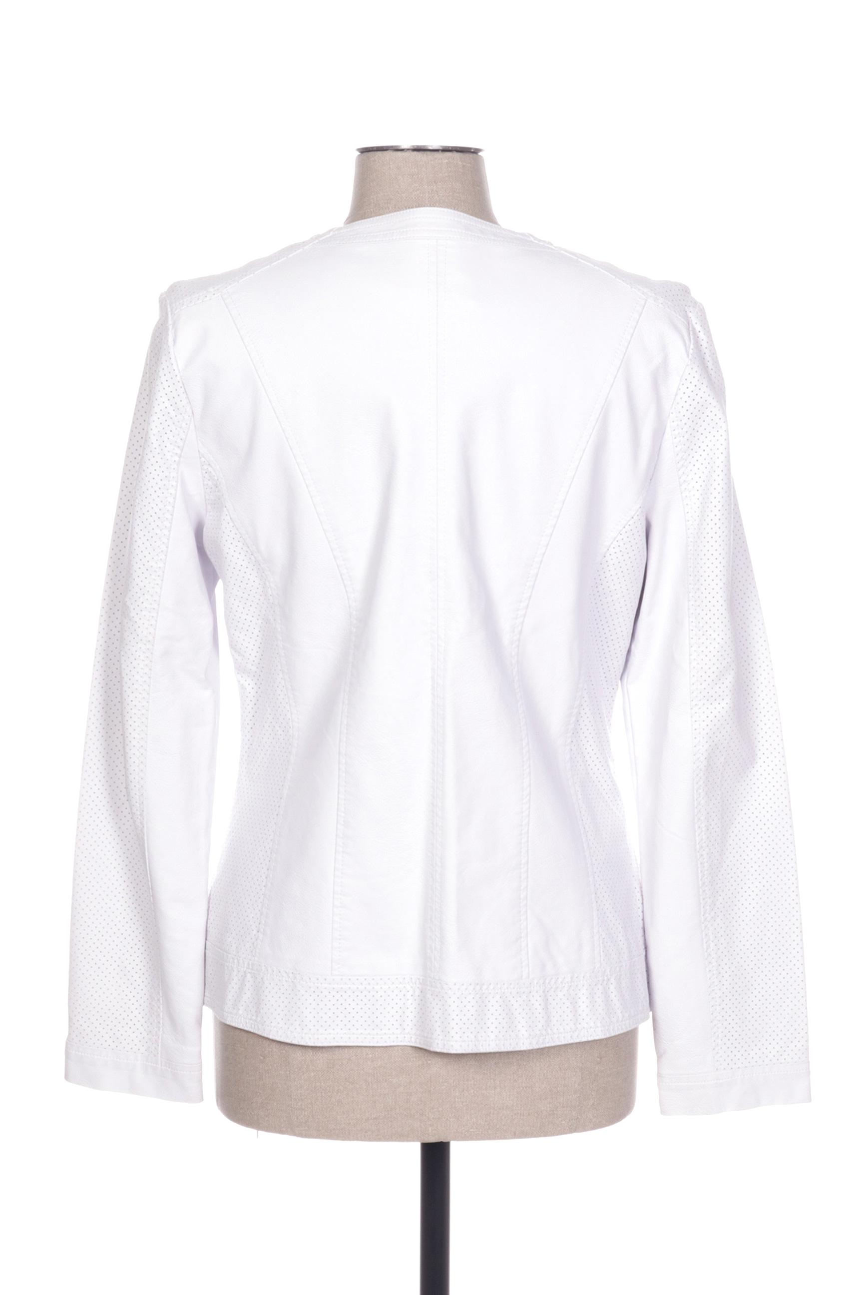 Diane Laury Vestesimilicuir Femme De Couleur Blanc En Soldes Pas Cher 1423223-blanc0