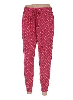 Pantalon casual rose COLINE pour femme