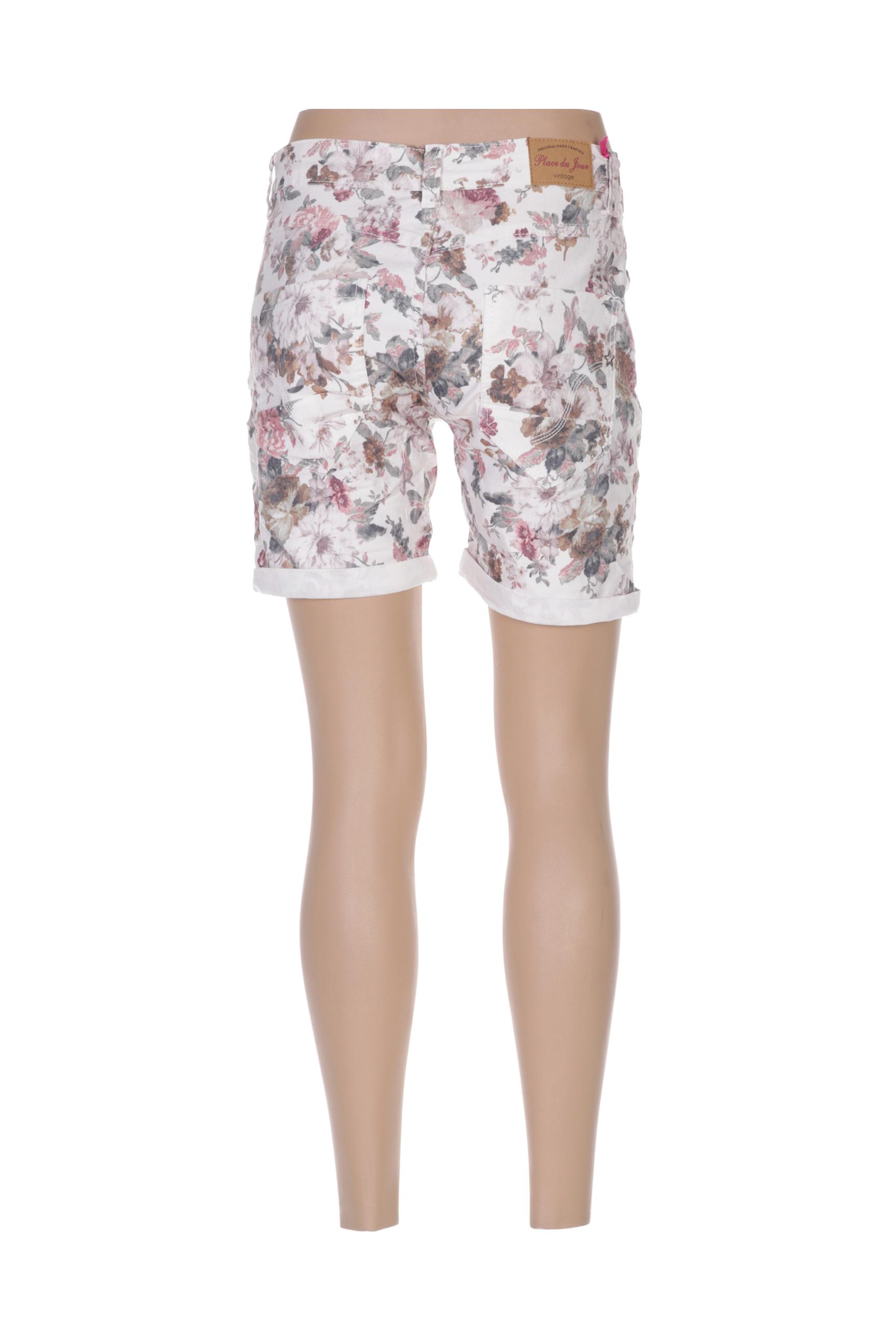 place du jour shorts 1 femme de couleur beige en soldes pas cher 1374242 beige0 modz