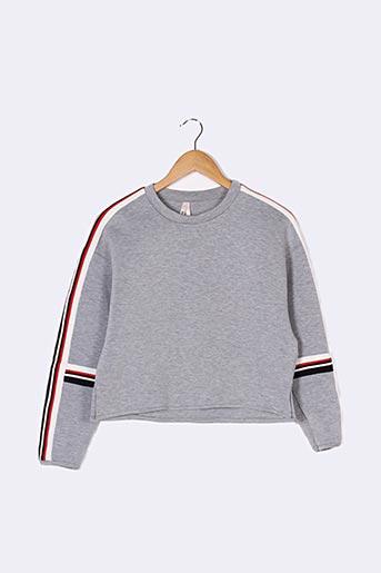 Sweat-shirt gris ELLI WHITE pour femme