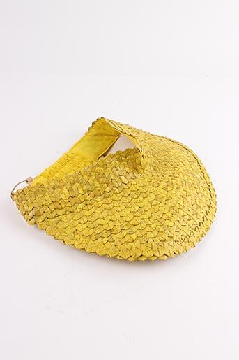 Chapeau jaune PALME pour femme