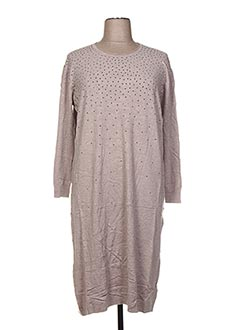 Robe pull beige F&8 pour femme